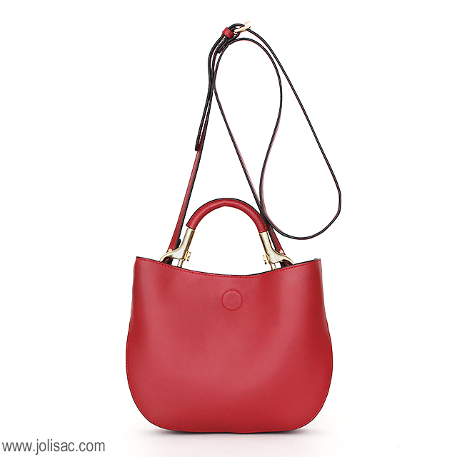 MuseR ミュザー 2WAY ショルダー バッグ 1300 RED レッド 正面